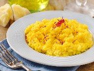 Миланско ризото (миланезе) с ориз арборио и сирене ементал